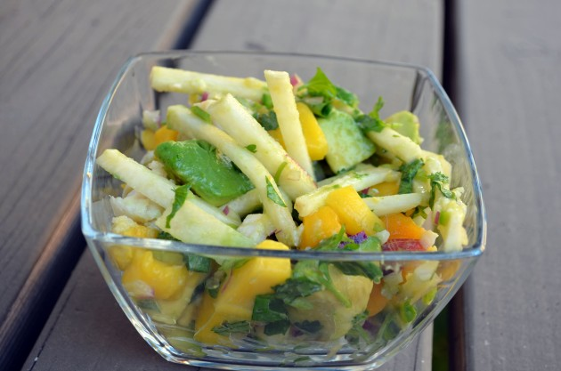 Jicama mango ceviche
